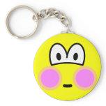 Blushing smile   keychains