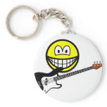 Bass playing smile   keychains