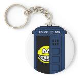 Dr Who smile Tardis  keychains
