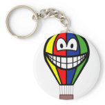Balloon smile Colorful  keychains