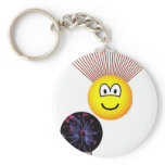 Static electricity emoticon Hair rising  keychains