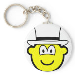 White hat buddy icon Six Thinking Hats - Neutral and Objective  keychains