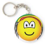 Rasta emoticon   keychains