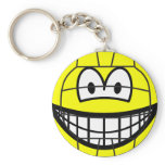 Volleyball smile   keychains