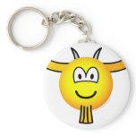 Goat emoticon   keychains