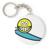 Surfing smile   keychains