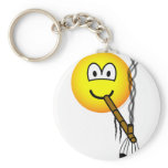 Peacepipe emoticon   keychains