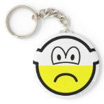 Half empty buddy icon Pessimist  keychains