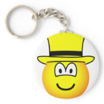Yellow hat emoticon Six Thinking Hats - Speculative positive  keychains