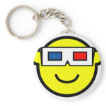 3D glasses buddy icon   keychains