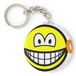 Ear ring smile   keychains