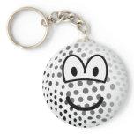 Golfball emoticon   keychains