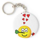 Cupids hit emoticon   keychains
