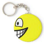 En profile smile Right  keychains