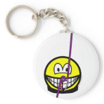 Abseiling smile   keychains