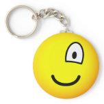 One eyed emoticon right  keychains