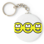 Cut out smilies banner  keychains