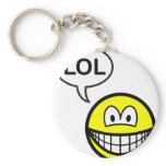 LOL smile  laugh(ing) out loud keychains