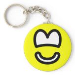 Cut out smile   keychains