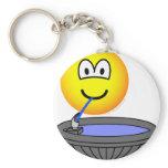 Water fountain emoticon drinking  keychains