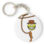 Cowboy lasso smile   keychains