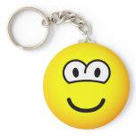 Round eyed emoticon   keychains