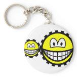 Cogwheels smilies   keychains