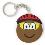 Biker emoticon muddy  keychains
