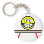 Balance beam smile Olympic sport Artistic gymnastics keychains