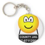 Mugshot emoticon   keychains