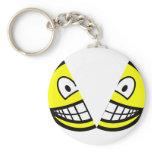 Split smile   keychains