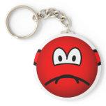 Sad red smile   keychains