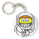 Astronaut smile   keychains