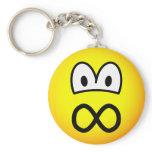Infinite emoticon   keychains