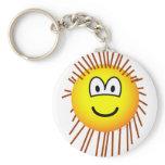 Porcupine emoticon   keychains