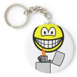 Pyro smile   keychains