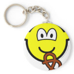 Pretzel eating buddy icon   keychains