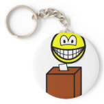 Voting smile   keychains