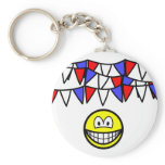 Bunting smile   keychains