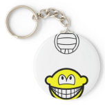 Volleyball playing smile   keychains
