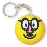 Disguised emoticon   keychains