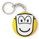 Masked emoticon Theatre  keychains