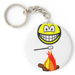 Campfire marshmallow smile   keychains