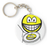 Embroidery smile   keychains
