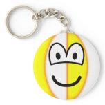 Beachball emoticon   keychains