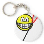 Lacrosse smile   keychains