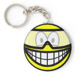 Safety goggles smile   keychains