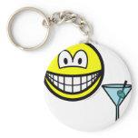 Martini drinking smile   keychains