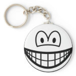 Black and white smile   keychains