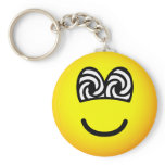 Hypnotized emoticon   keychains
